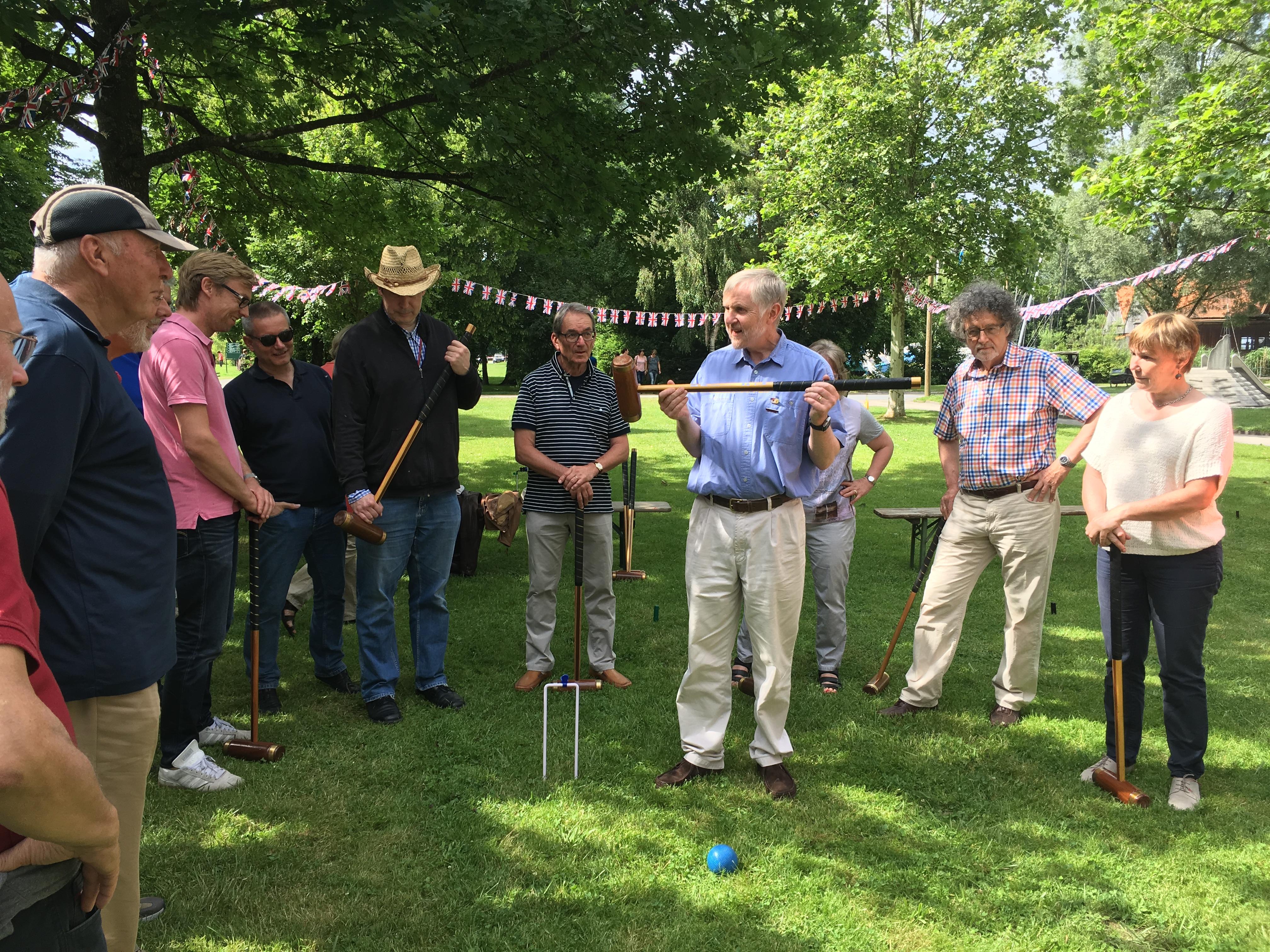 Am 17.7 fand das berühmte FAW Croquet-Turnier statt